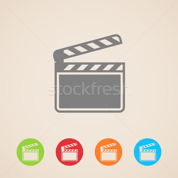 film clap board cinema vector icons  Stock photo © maximmmmum