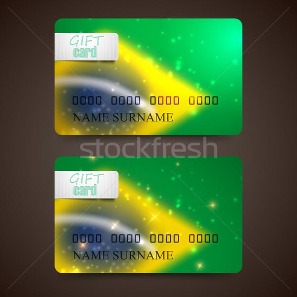 セット ベクトル ギフト カード ぼやけた 効果 ストックフォト © maximmmmum