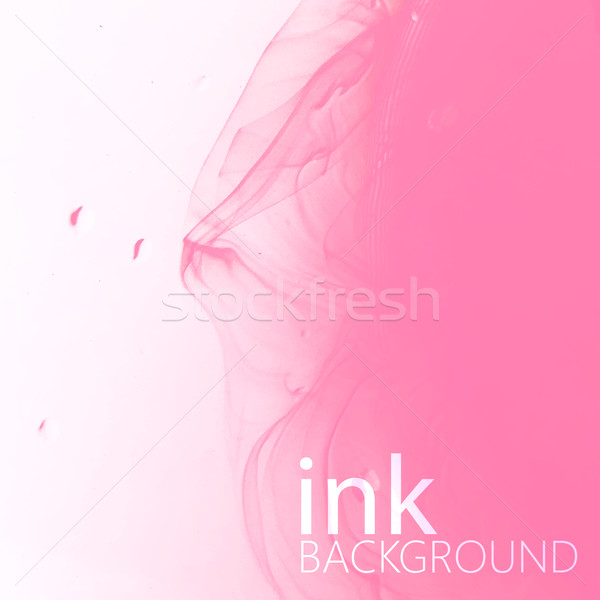 abstract vector background of pink fluid ink swirling in water.  Stock photo © maximmmmum