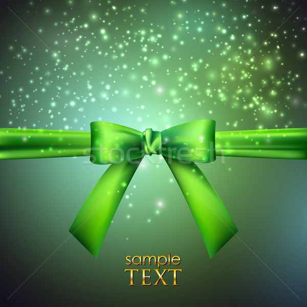 holiday background with green bow  Stock photo © maximmmmum