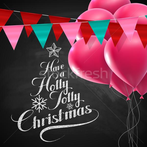 Foto stock: Alegre · alegre · natal · vetor · férias · ilustração