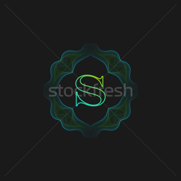 Vektör monogram çerçeve hat sanat Stok fotoğraf © maximmmmum