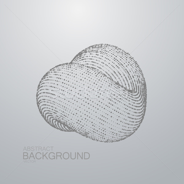 3D abstract loop shape of particles Stock photo © maximmmmum