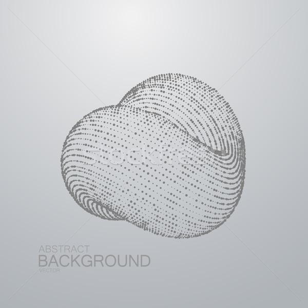3D resumen bucle forma partículas futurista Foto stock © maximmmmum