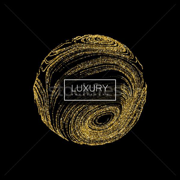 3D zniekształcony sferze luksusowe streszczenie błyszczący Zdjęcia stock © maximmmmum