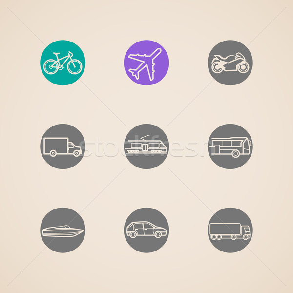 flat icons with different modes of transport  Stock photo © maximmmmum