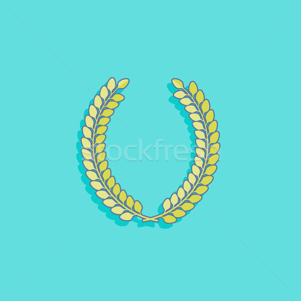 vector illustration with laurel wreath in flat style design Stock photo © maximmmmum