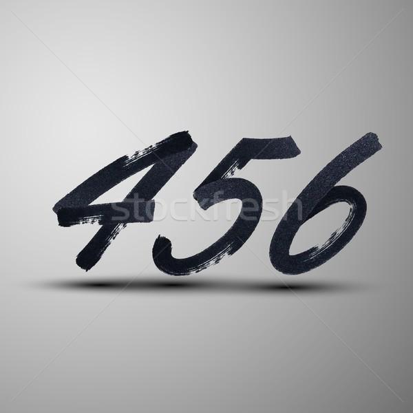 Vetor conjunto marcador nosso números Foto stock © maximmmmum