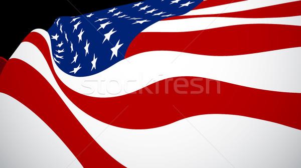 United Sates of American flag Stock photo © maximmmmum