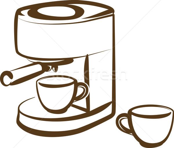 иллюстрация кофе власти Кубок стали Сток-фото © maximmmmum