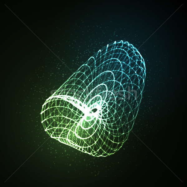 3D illuminated neon object Stock photo © maximmmmum