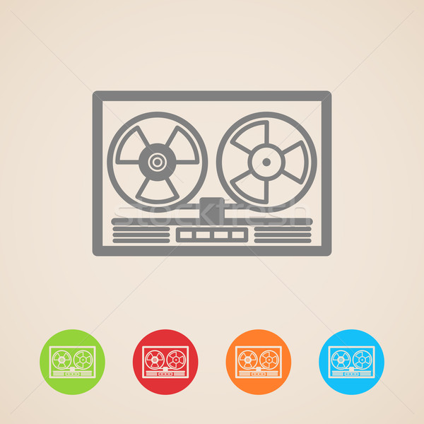 vector reel tape recorder icons  Stock photo © maximmmmum
