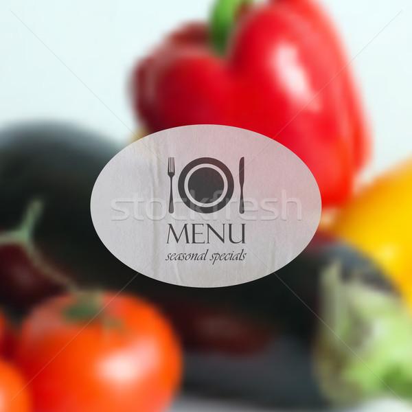 реалистичный продовольствие различный овощей перец томатный Сток-фото © maximmmmum