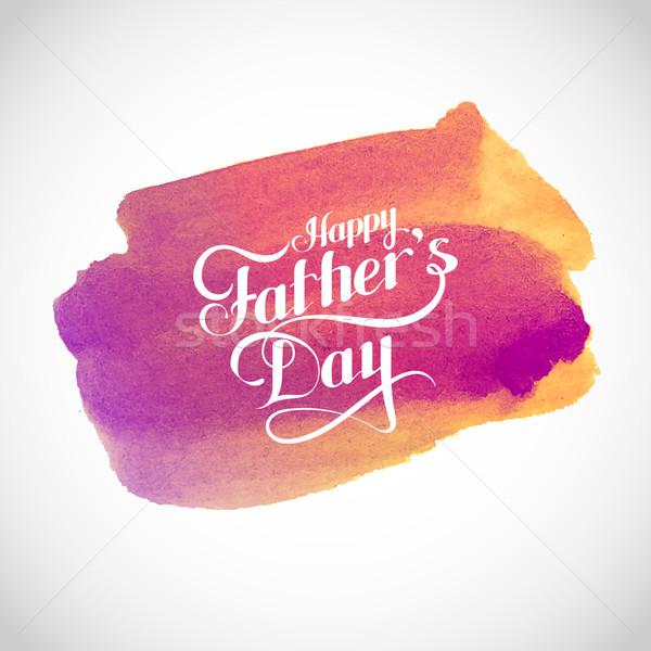 Stockfoto: Gelukkige · vadersdag · retro · label · licht · stralen