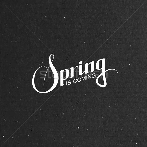 Spring season retro label Stock photo © maximmmmum