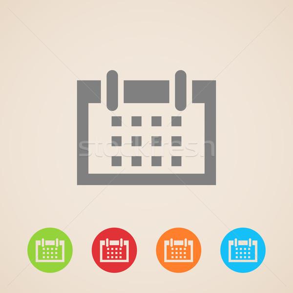 vector calendar icons  Stock photo © maximmmmum