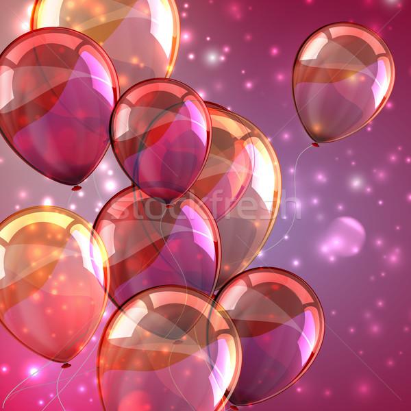 Tatil uçan balonlar mutlu dizayn Stok fotoğraf © maximmmmum