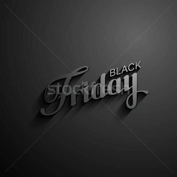 черная пятница продажи Label долго Тени Сток-фото © maximmmmum