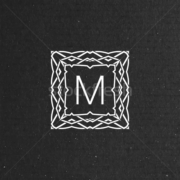 vector floral monogram Stock photo © maximmmmum