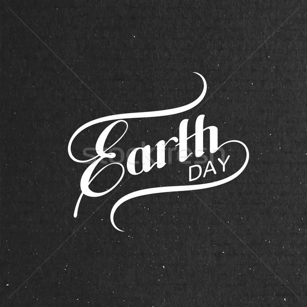 Día de la tierra signo diseno etiqueta ecología evento Foto stock © maximmmmum