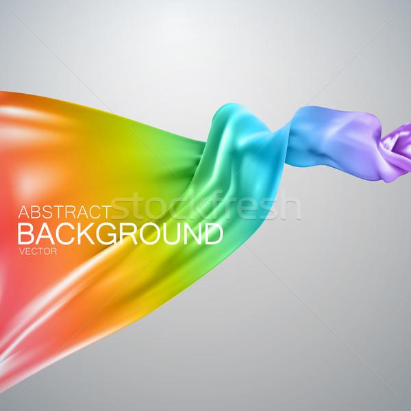 Rainbow silk fabric. Stock photo © maximmmmum