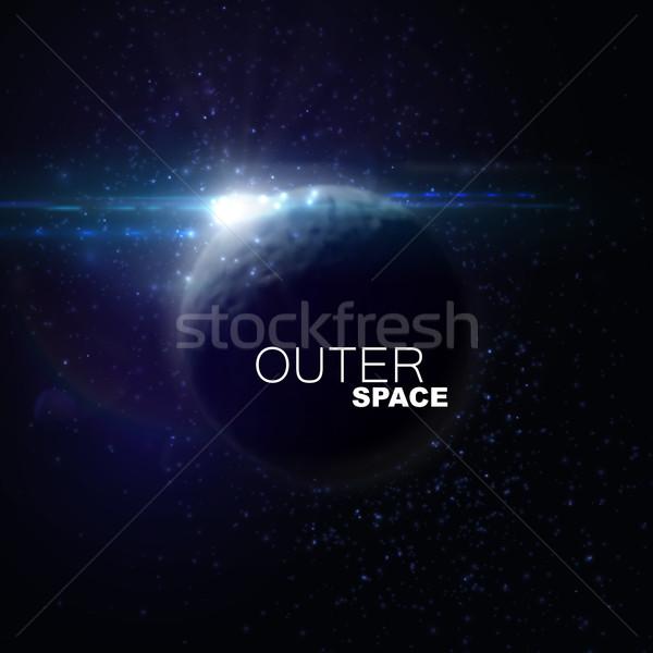 Espacio exterior resumen planeta estrellas óptico Foto stock © maximmmmum