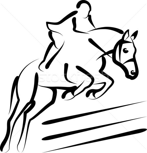 equestrian sport Stock photo © maximmmmum
