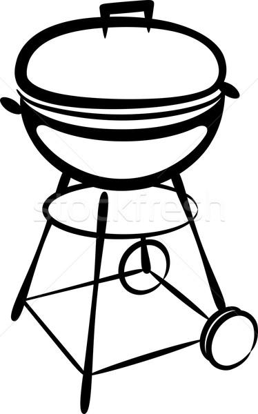 バーベキューグリル 黒 料理 調理 バーベキュー オブジェクト ストックフォト © maximmmmum
