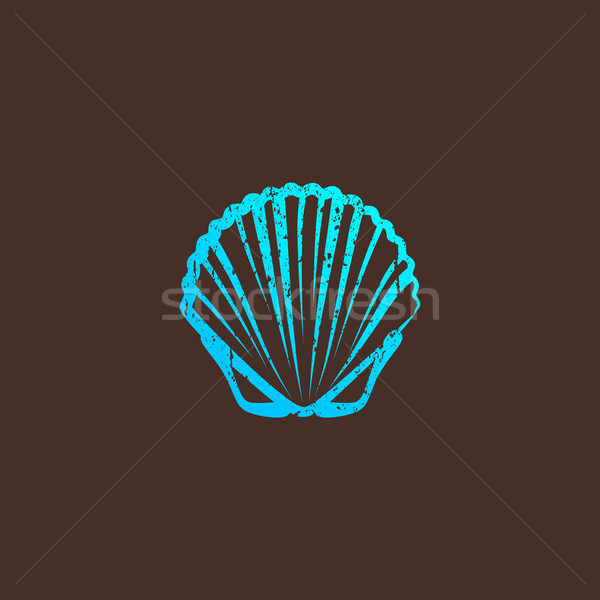 vintage illustration with a shell  Stock photo © maximmmmum