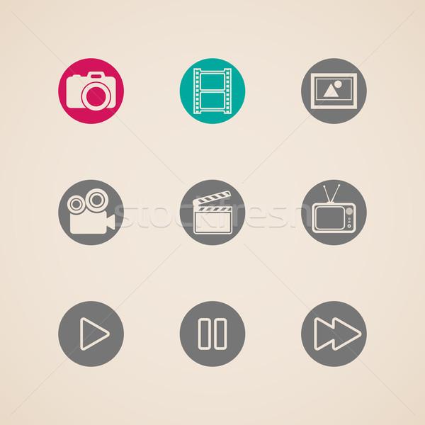 Foto stock: ícones · teia · móvel · aplicações · criador · indústria