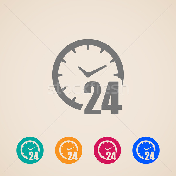 open 24 hours a day icons  Stock photo © maximmmmum