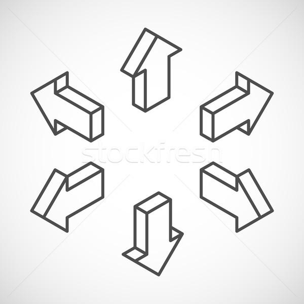 set of isometric vector arrows  Stock photo © maximmmmum
