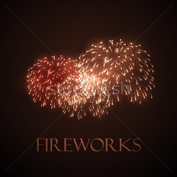 holiday illustration of fireworks Stock photo © maximmmmum