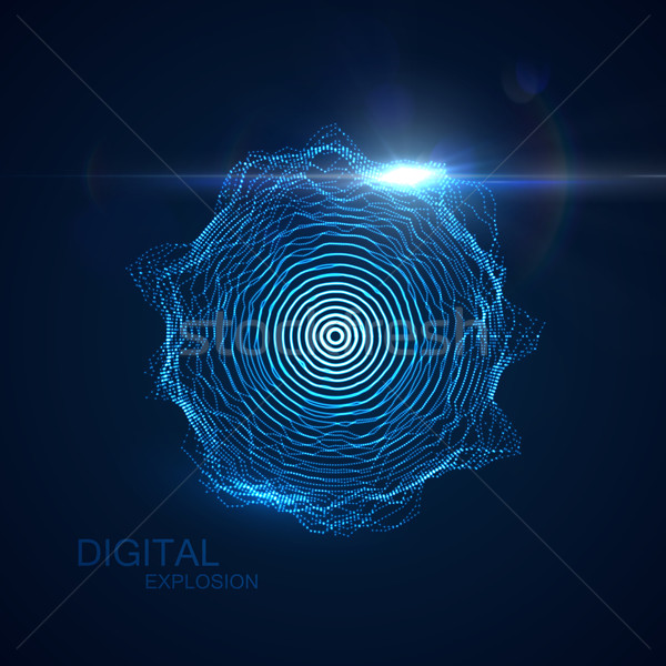 vector illuminated shape of particles array Stock photo © maximmmmum