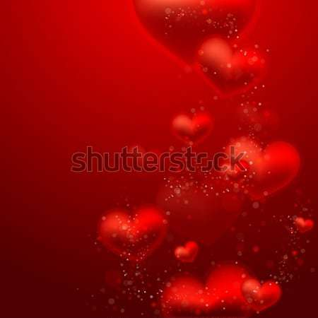 Valentine`s Day background with hearts Stock photo © maximmmmum