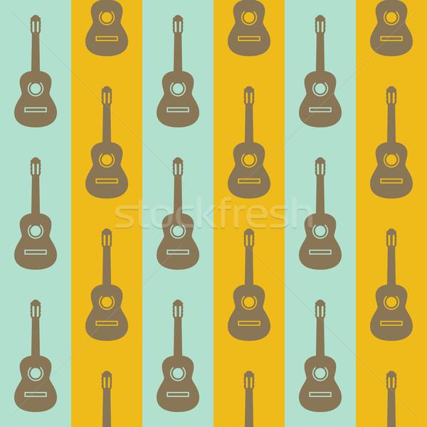 seamless vintage background with guitars  Stock photo © maximmmmum