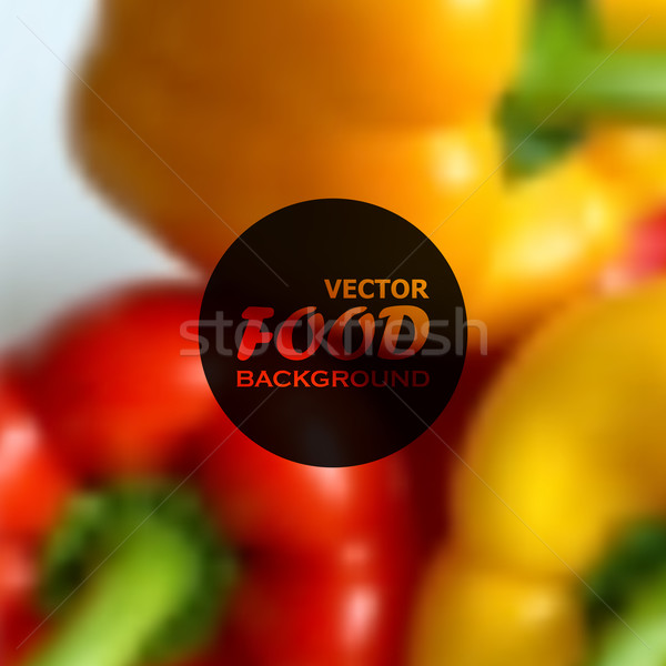 realistic food background of red and yellow peppers. vector design Stock photo © maximmmmum