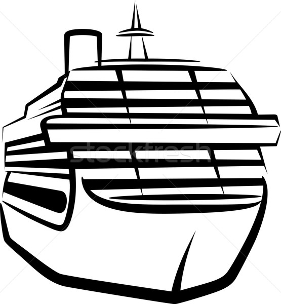 Stock photo: simple illustration with a ship