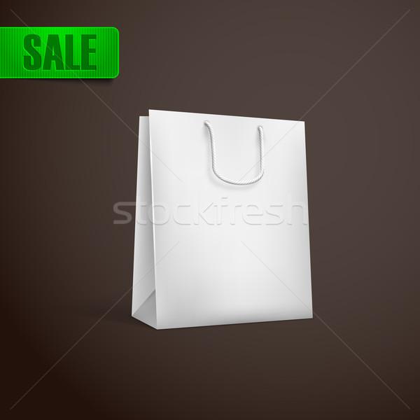 white shopping bag mock-up Stock photo © maximmmmum