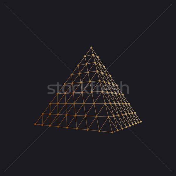 Polygonal pyramid Stock photo © maximmmmum