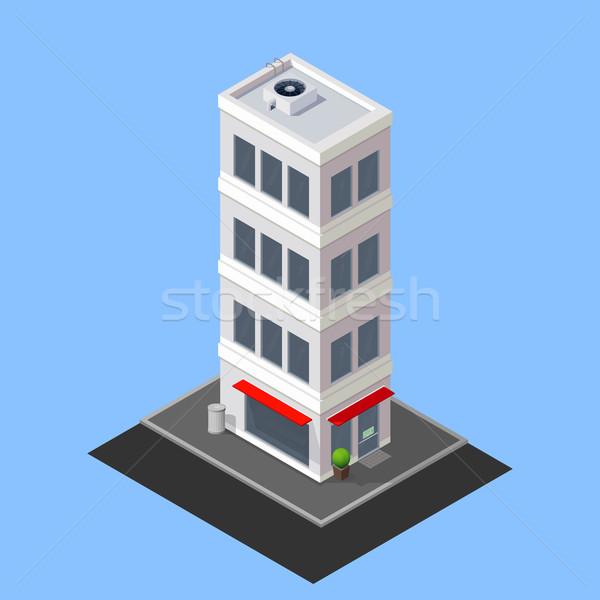 Vecteur isométrique bâtiment ville maison urbaine Photo stock © maximmmmum