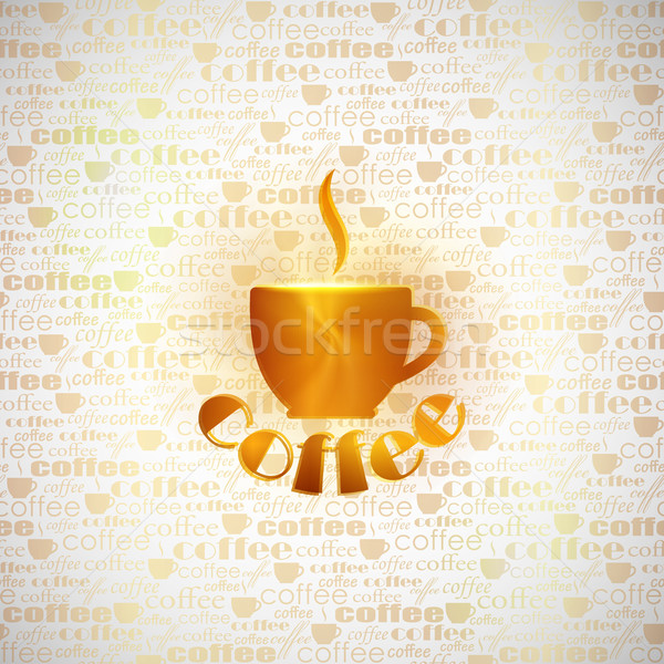 abstract background with coffee cup Stock photo © maximmmmum