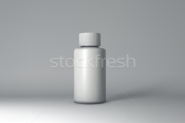Plastic Bottle Packaging Mock-up. Vector Illustration Stock photo © maximmmmum