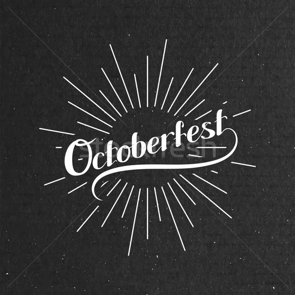 Octoberfest. Holiday Vector Illustration Stock photo © maximmmmum