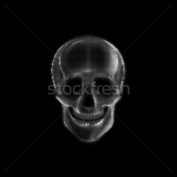 Vector illustration with a human skull. Stock photo © maximmmmum