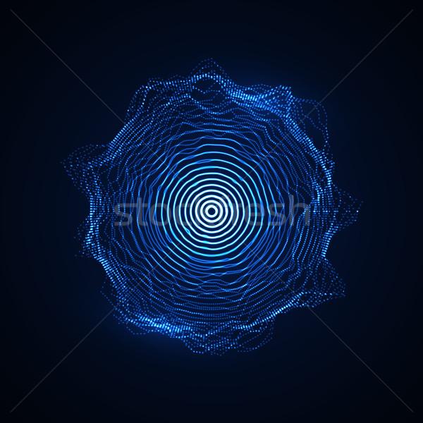 Сток-фото: вектора · форма · частицы · массив · аннотация