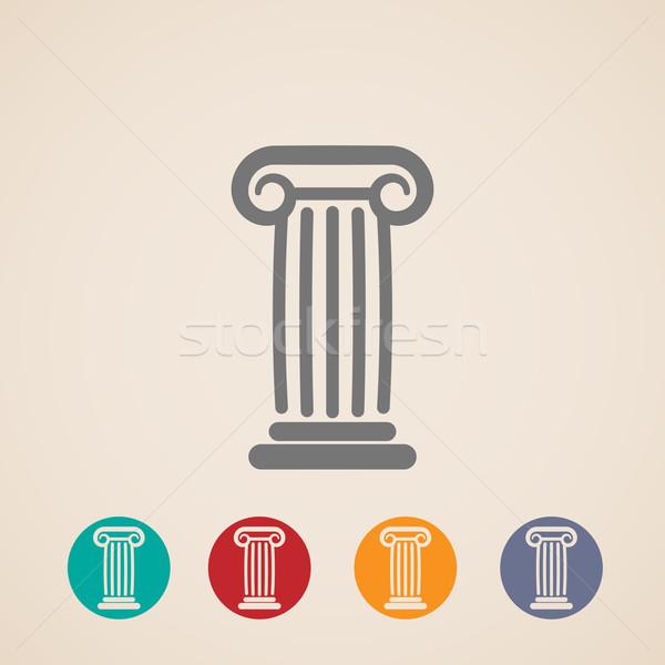 set of ancient column icons  Stock photo © maximmmmum