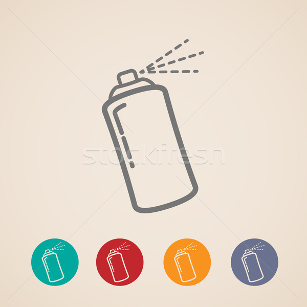 set of aerosol spray can icons  Stock photo © maximmmmum