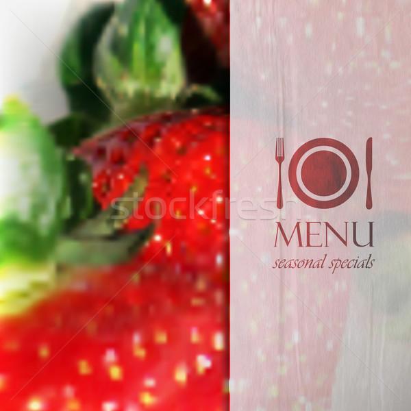 étterem menü terv valósághű elmosódott érett Stock fotó © maximmmmum