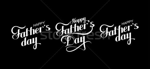 Happy Fathers Day retro label  Stock photo © maximmmmum